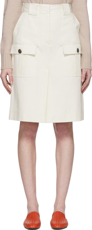 Bottega Veneta Off-White Cargo Pockets Skirt