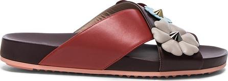 Fendi Embellished Slides