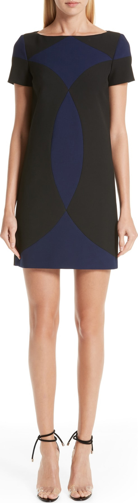 Versace Collection Colorblock Shift Dress