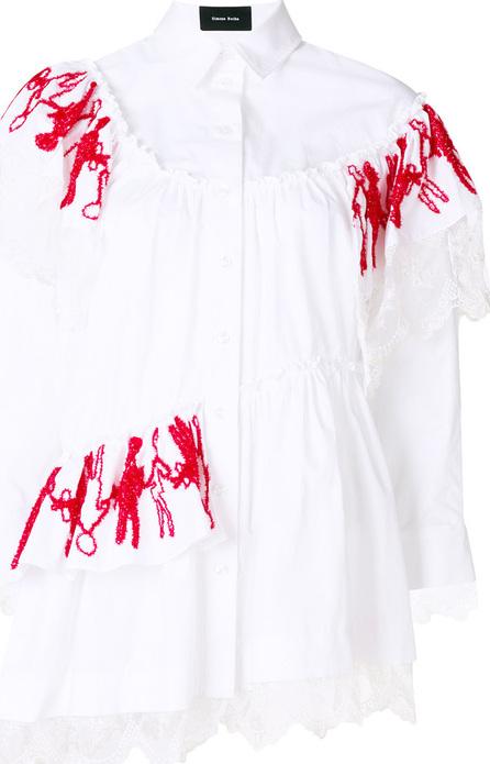 Simone Rocha Trim double frill shirt