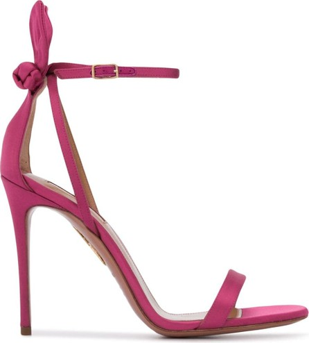 Aquazzura Deneuve 105mm satin sandals