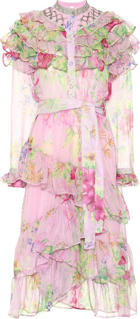 DODO BAR OR Embellished floral-printed dress