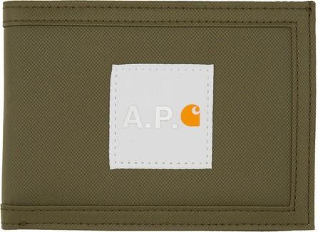 A.P.C. Khaki Carhartt WIP Edition Card Holder