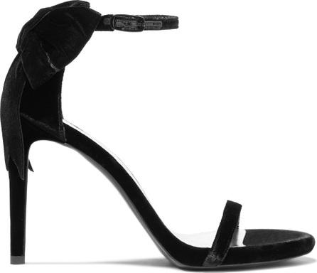 Stuart Weitzman MyBow velvet sandals
