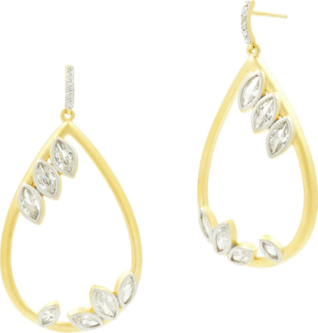 Freida Rothman 14k Fleur Bloom Cubic Zirconia Teardrop Earrings