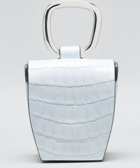 Danse Lente Mock-Croc Leather Box Bag