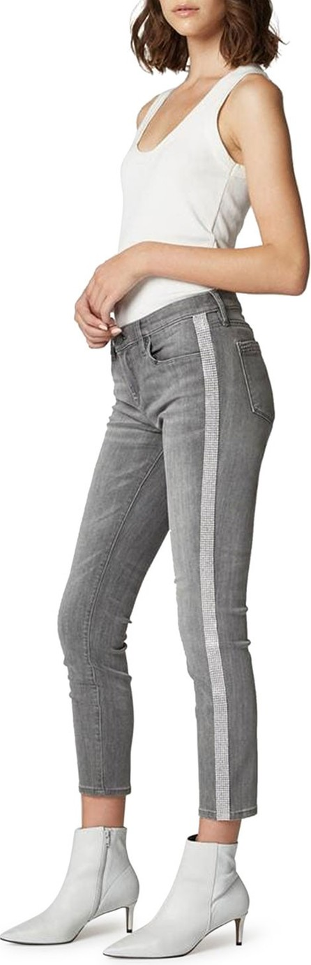 BLANKNYC The Reade Crop Skinny Jeans with Crystal Stripes