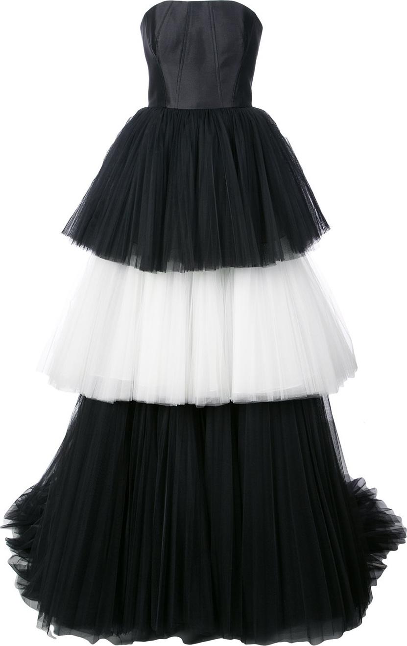 Carolina Herrera Mikado bustier tulle ballgown in White - mkt