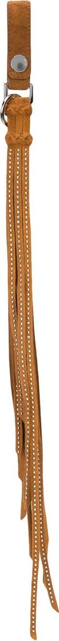 Amiri Studded leather keyring