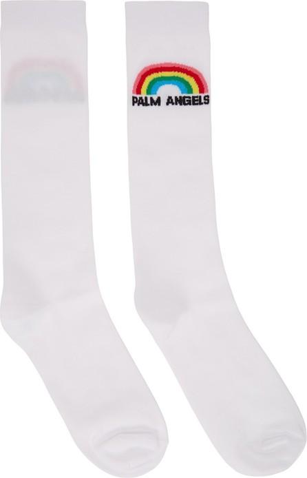 Palm Angels White Rainbow Socks