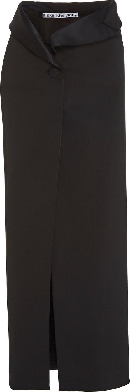 Alexander Wang Satin-Trimmed Wool Maxi Skirt
