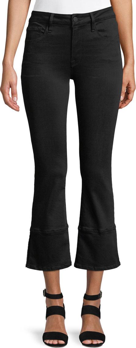 FRAME DENIM Le Crop Mini Boot-Cut Panel Slit Jeans