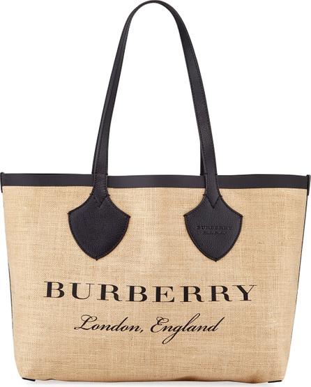 Burberry London England Medium Giant Printed Jute Shoulder Tote Bag