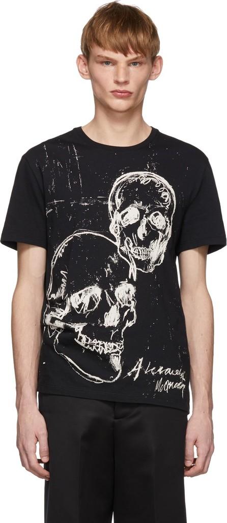 Alexander McQueen Black Graffiti Skull T-Shirt