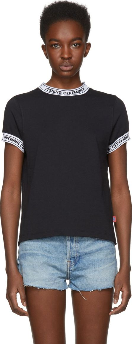 Opening Ceremony Black Limited Edition Logo Banded T-Shirt