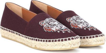 KENZO Embroidered canvas espadrilles