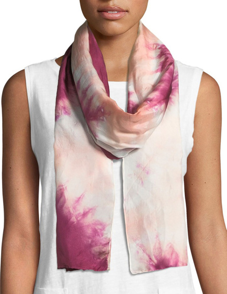 Eileen Fisher Shibori Silk Fauna Scarf