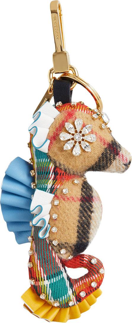 Burberry London England Matilda the Seahorse check cashmere charm