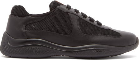 Prada America's Cup mesh and leather trainers