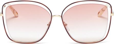 Chloe 'Poppy' metal butterfly sunglasses