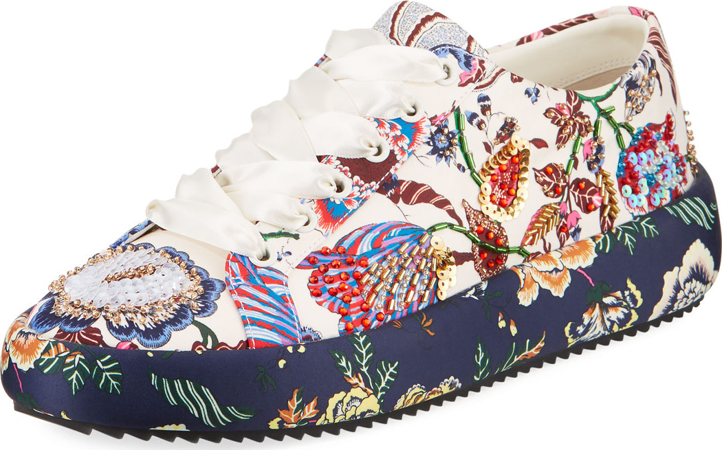 Tory Burch Kacey Embellished Floral