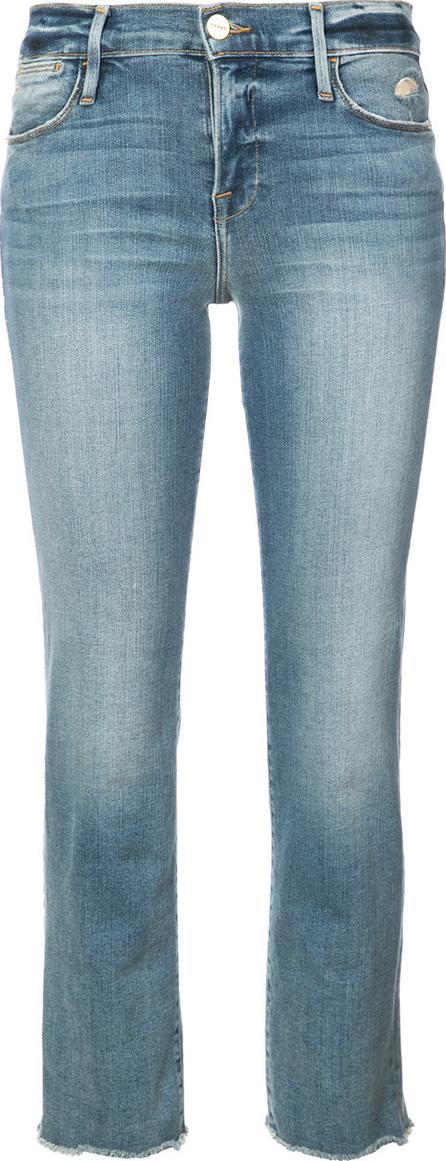 FRAME DENIM Cropped straight leg jeans