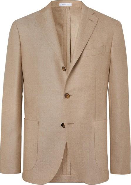 Boglioli Beige K-Jacket Slim-Fit Unstructured Virgin Wool-Hopsack Blazer