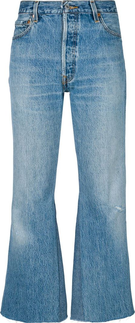 RE/DONE Lea crop flare jeans