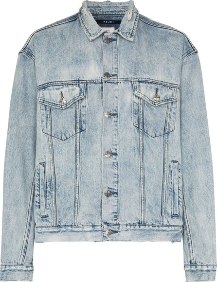 Ksubi Acid-wash distressed denim jacket