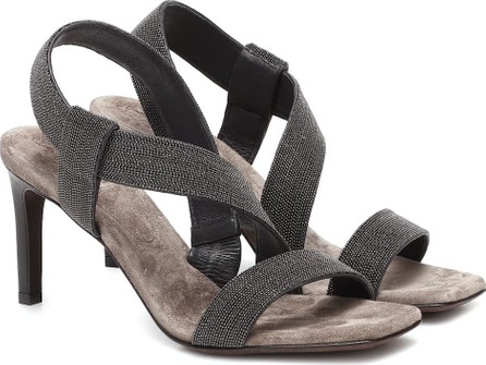 Brunello Cucinelli Embellished leather sandals