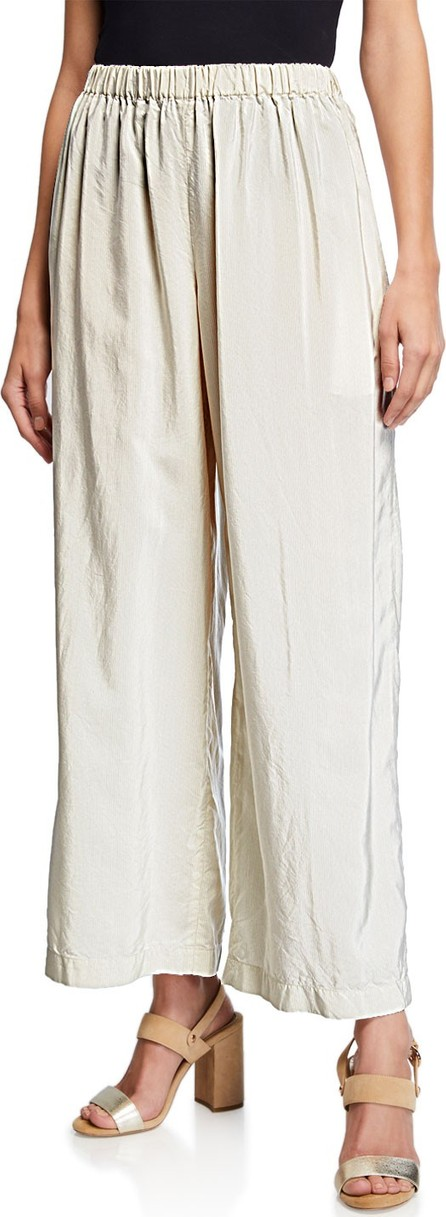 Aspesi Wide-Leg Pants with Pinstripes