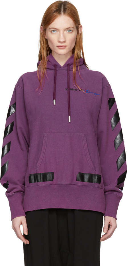 Off White Purple Champion Edition Hoodie