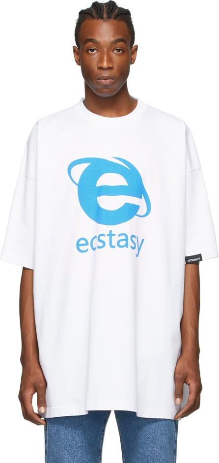 Vetements White Oversized 'Ecstasy' T-Shirt