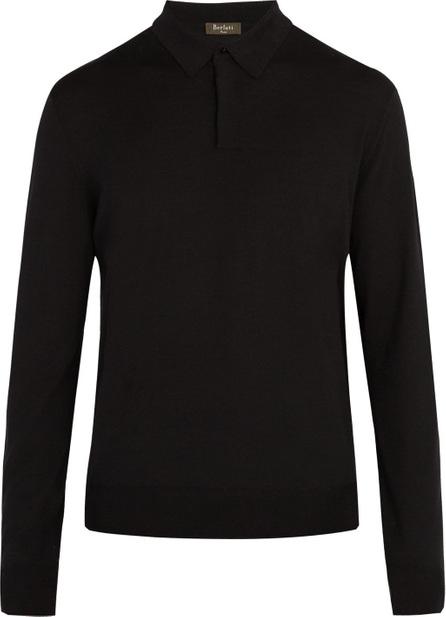 Berluti Knitted long-sleeved wool polo shirt