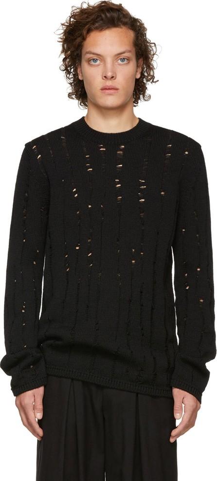 Comme Des Garçons Homme Plus Black Wool Splash Sweater