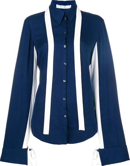 Richard Malone Contrast trim tie back shirt