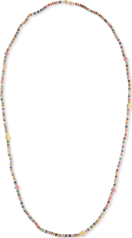 Splendid Single-Strand Multicolor Sapphire Necklace, 41""