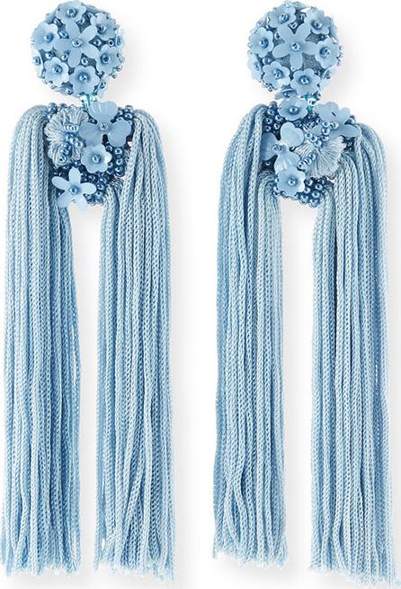 Sachin & Babi Fleur Dupios Tassel Clip-On Earrings