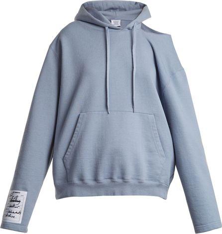 Vetements Hooded open-shoulder sweatshirt
