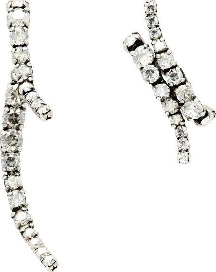Ryan Storer Mismatched crystal-embellished earrings