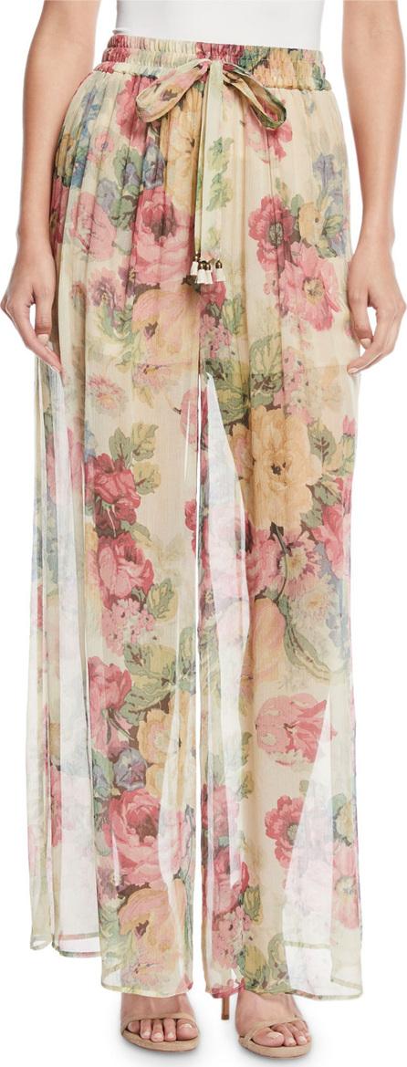 Zimmermann Melody Floral Wide-Leg Pants