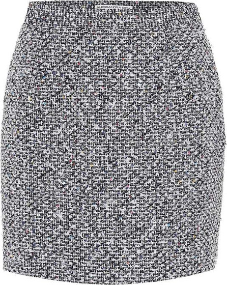 Alessandra Rich Sequined tweed miniskirt