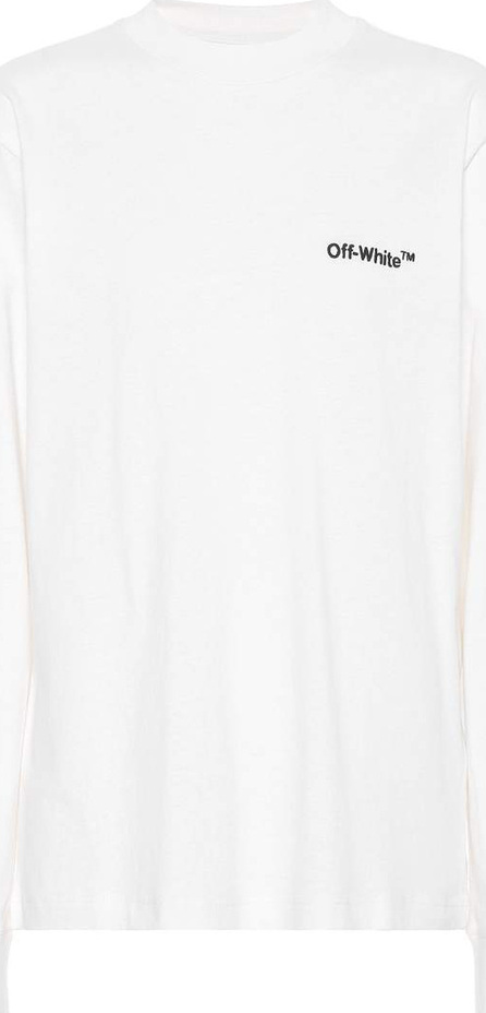 Off White Long-sleeved cotton T-shirt