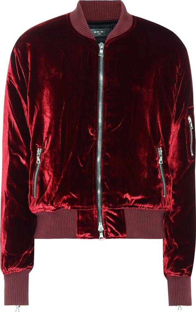 Amiri - Velvet bomber jacket