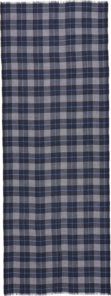 Begg & Co 'Wispy Wallis' houndstooth tartan plaid cashmere scarf