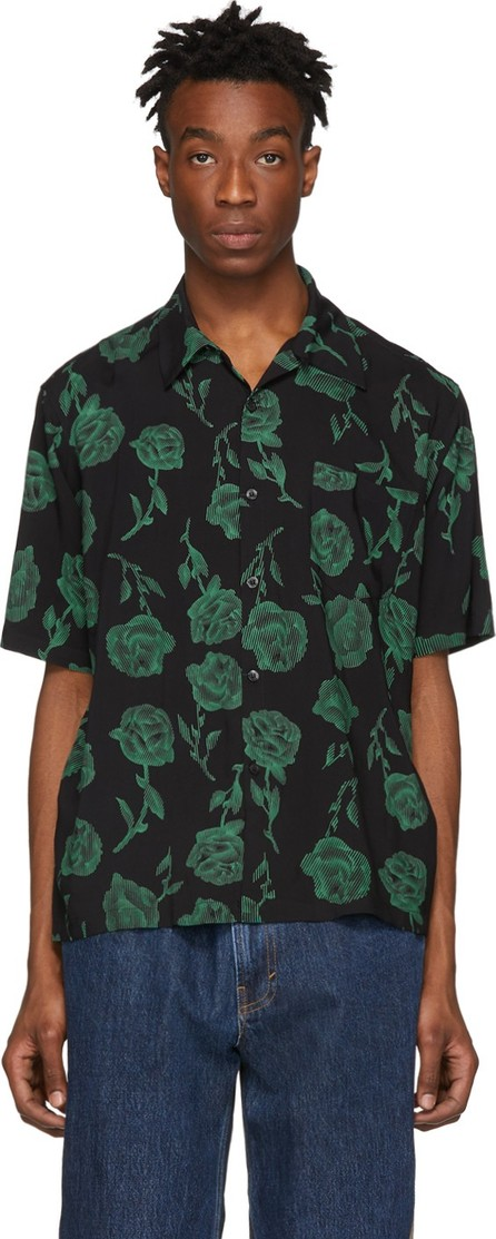 Aries Black & Green Rose Bowling Shirt