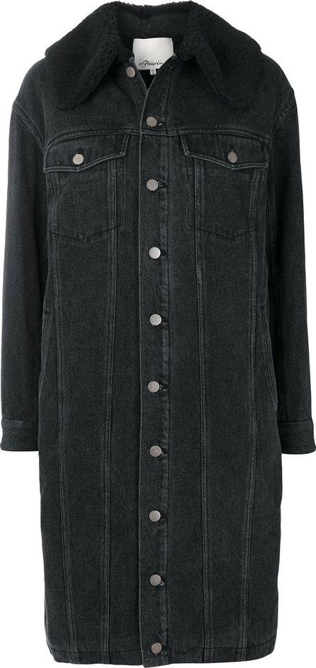 3.1 Phillip Lim denim fitted coat