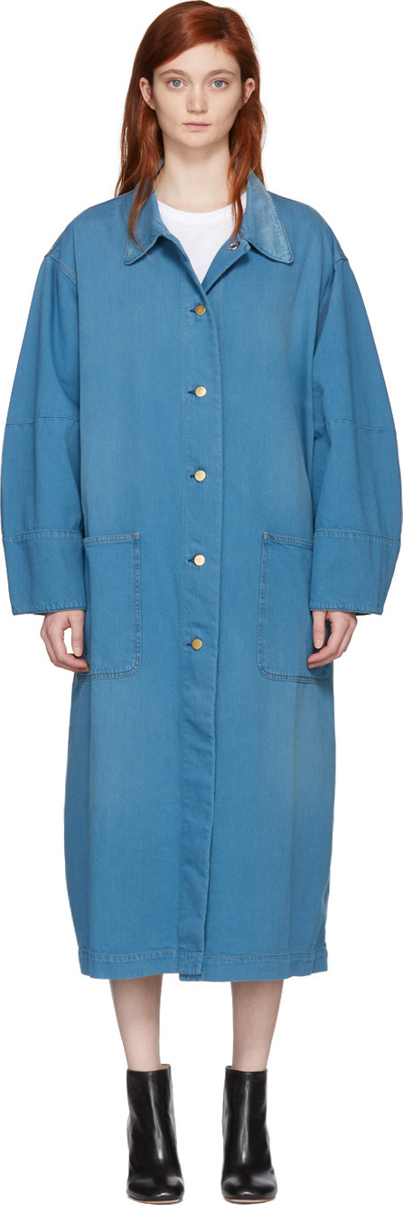 Acne Studios Blå Konst Blue Brandou Long Denim Jacket