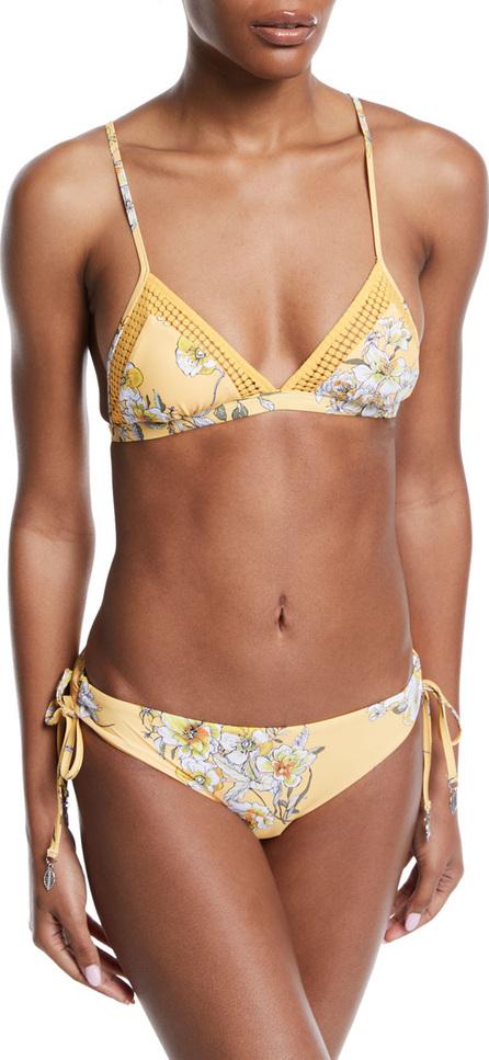 Seafolly Midsummer Floral-Print Triangle Bikini Swim Top