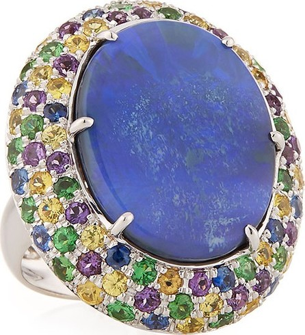 Andreoli 18k White Gold Opal & Multi-Stone Ring, Size 7